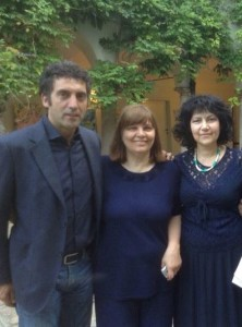 mostra umanitaria con assessore di Aosta e Annie Valliant