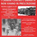 I Crimini contro l'Umanità non vanno in prescrizione -23 ott.-3nov. 2016  mostra Villa Casati – Cologno Monzese