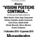 VISIONI POETICHE CONTINUA…..Museoteatro commenda di Pre – Genova 14 dic.2018  26 febbraio 2019